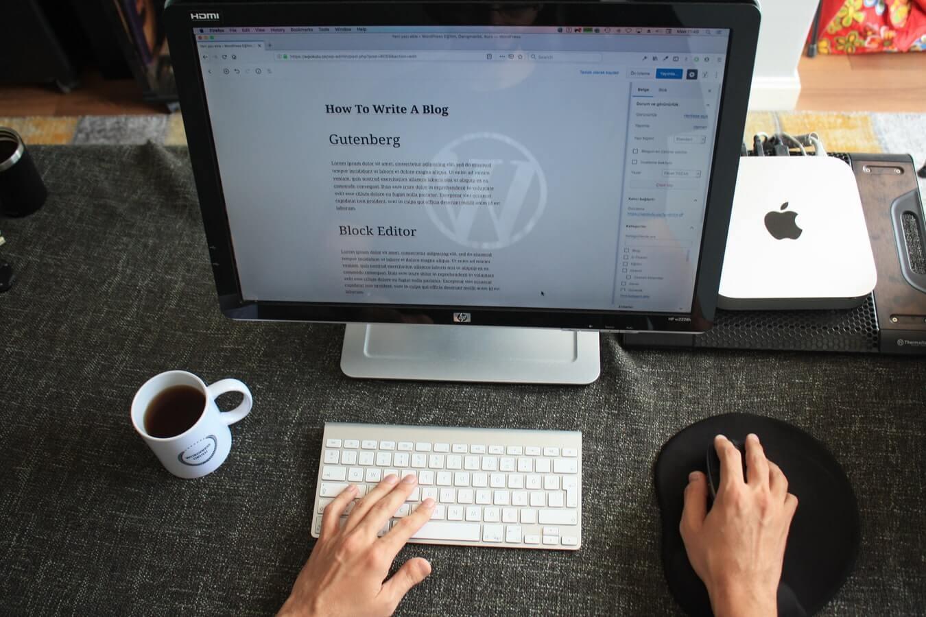 Wordpress urejanje spletnih strani