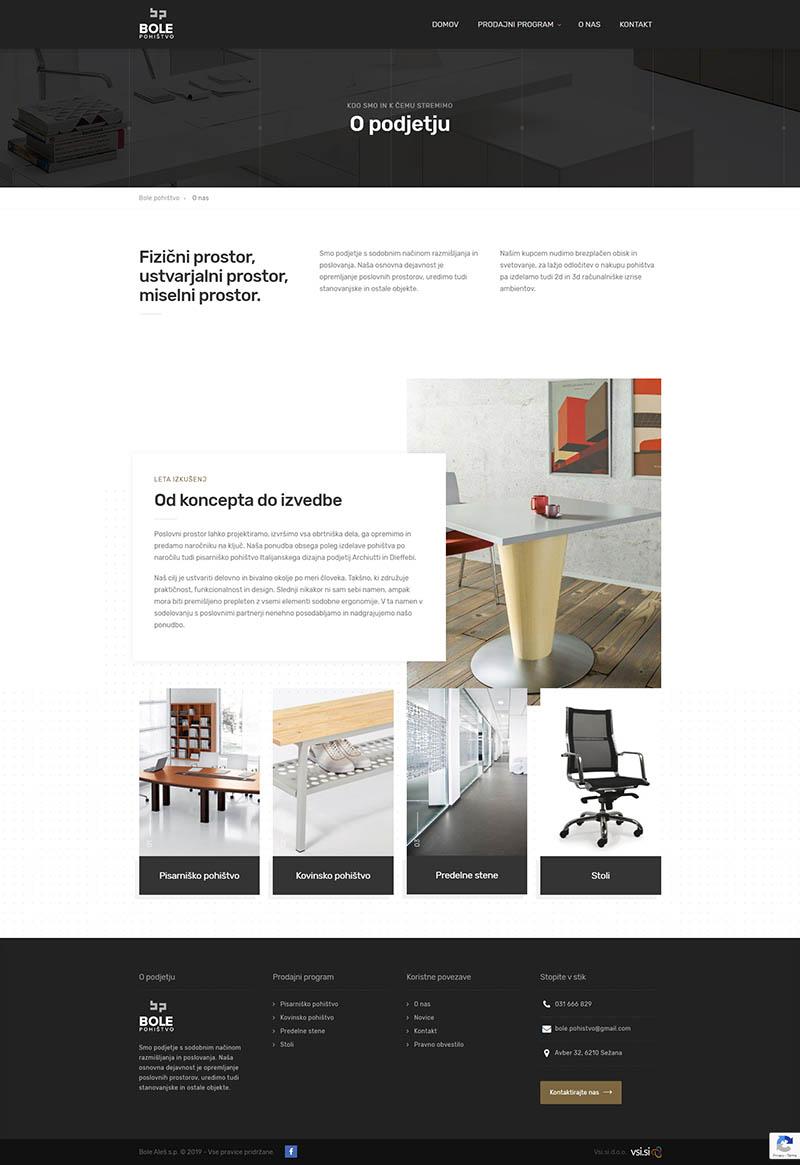 Referenca izdelave - Bole pohištvo